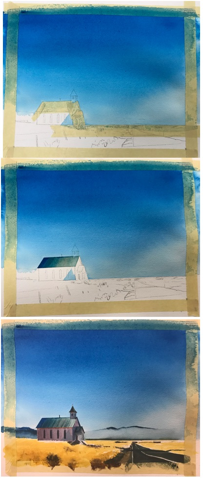 Painting with Stan Miller - Church on the Plains.vinchesi