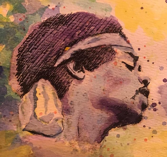 Hendrix.Vinchesi.purple and green.unfinished