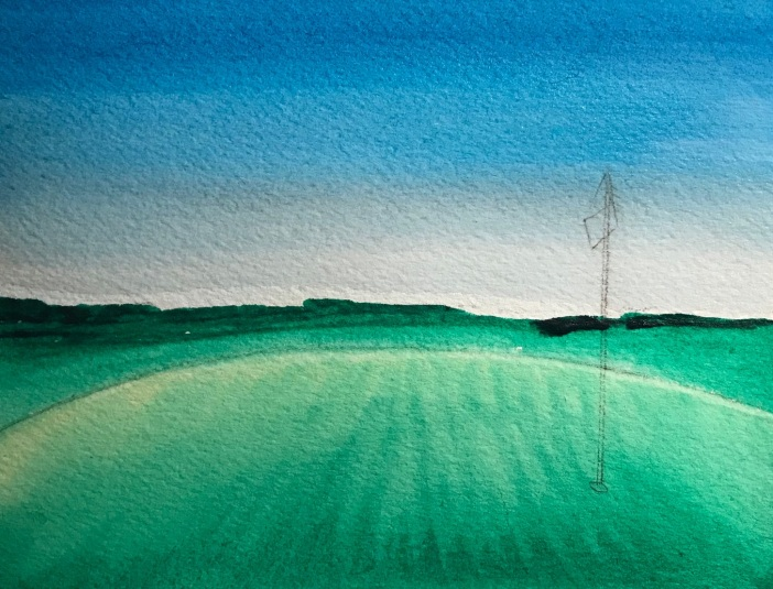 Putting green and landscape.Vinchesi.2018