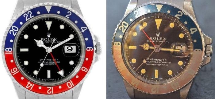 Rolex GMT with patina vs new