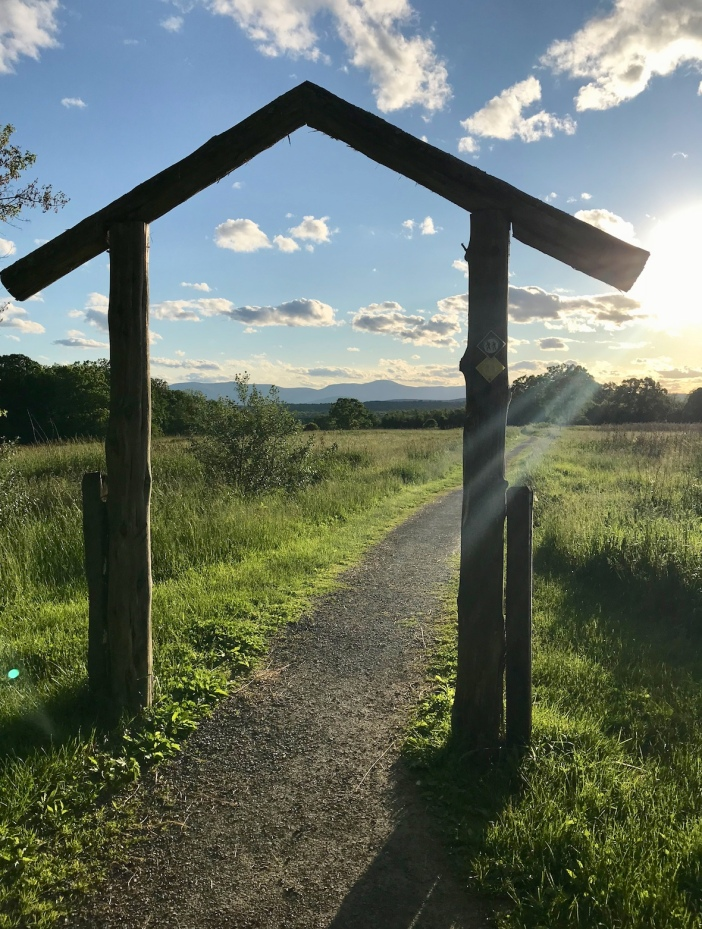 Trail Head in Hudson Valley_